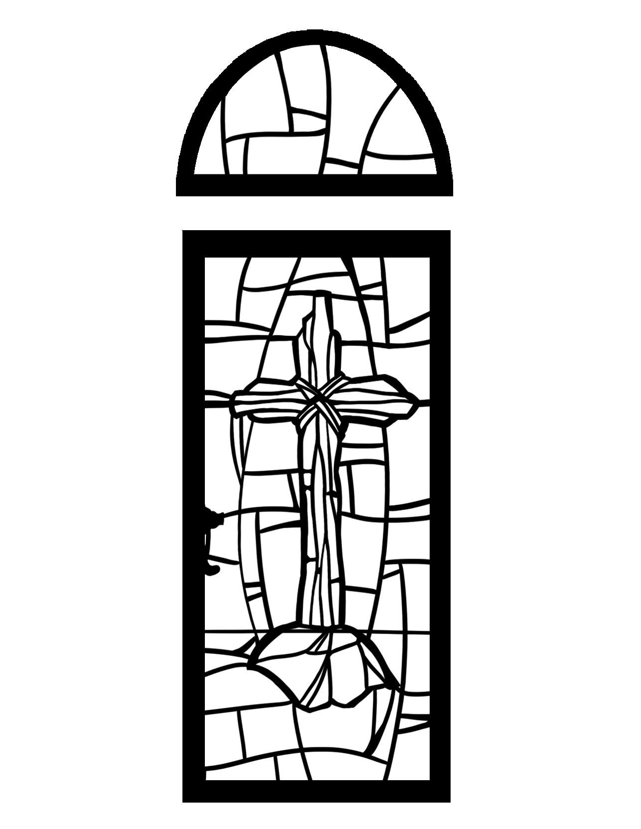 stained glass religious coloring pages - photo#23