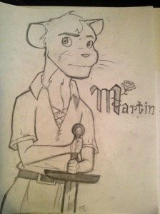First drawing of 2013! Just finished it. Martin the Warrior (being the eponymous character). This one came out pretty good as well. Arm perspective can get annoying though.