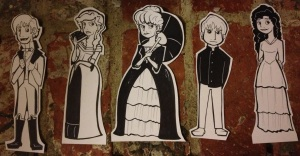 ...Bingley, Caroline, Lady Catherine, Mr Collins, Charlotte.